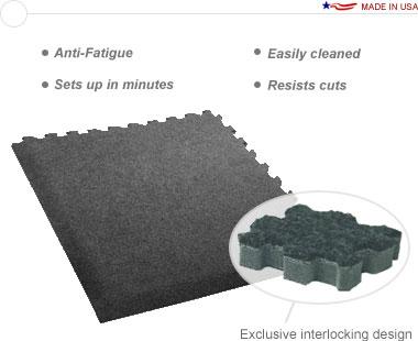 Comfort Carpet Plus™ •10′ × 20′ Interlocking Carpet Tiles with Beveled Edges