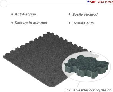Comfort Carpet Plus™ •20′ × 20′ Interlocking Carpet Tiles