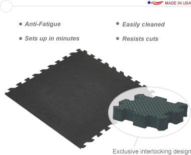 Comfort Tile™ 10′ × 10′ Interlocking Floor Tiles