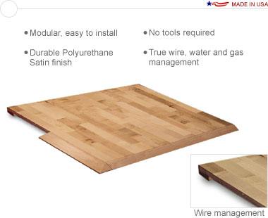 Sierra™ Wood • 20′ × 20′ Interlocking Hardwood Flooring