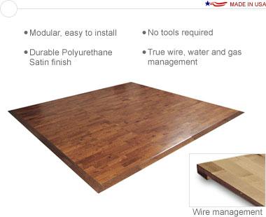Sierra™ Premium Wood • 10′ × 10′ Premium Hardwood Floor