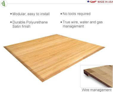 10′ × 10′ Bamboo Flooring