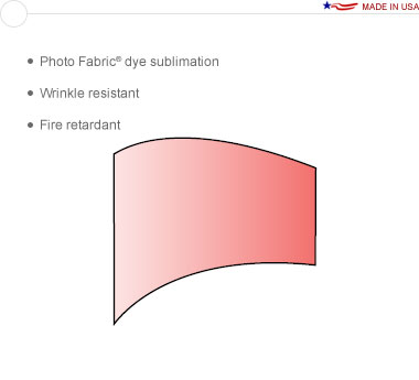 Entasi™ Graphic for a 10′ × 8′ Horizontal Curved Sloping Right Frame