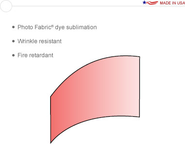 Entasi™ Graphic for a 10′ × 8′ Horizontal Curved Sloping Left Frame