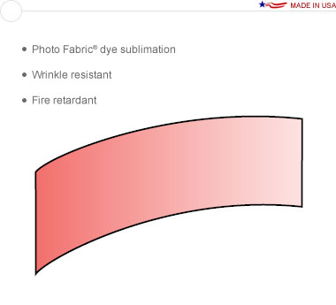Entasi™ Graphic for a 20′ × 8′ Horizontal Curved Frame