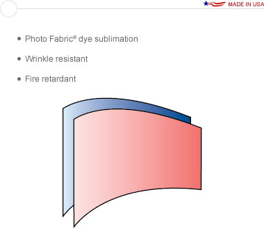 Entasi™ Graphic for a Double Sided 10′ × 8′ Horizontal Curved Sloping Right Frame