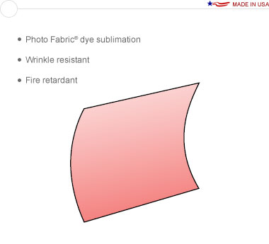 Entasi™ Graphic for an 8′ × 8′ Vertical Curved Frame