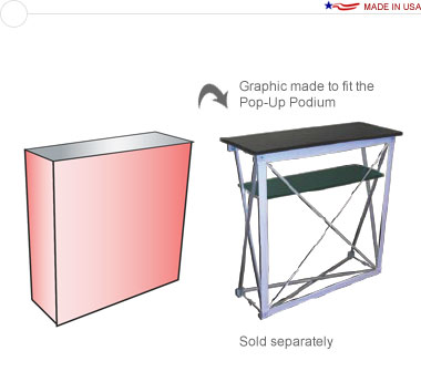 Graphic for a Pop-Up Podium