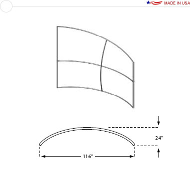 10′ × 8′ Horizontal Curved Sloping Right Frame