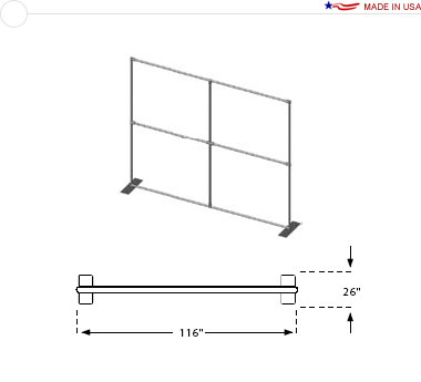 Double Sided 10′ × 8′ Flat Frame