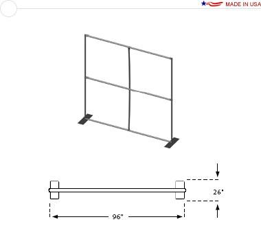 8′ × 8′ Flat Frame
