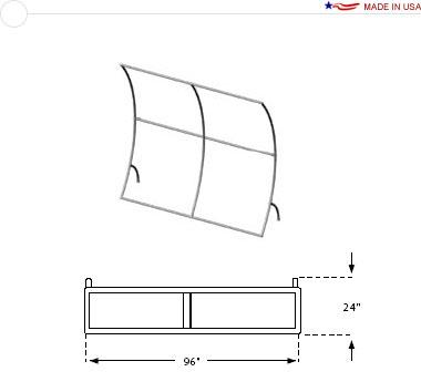 8′ × 8′ Vertical Curved Frame