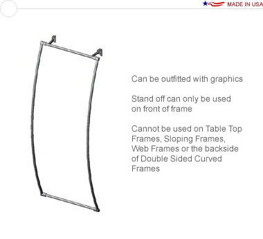 36″ × 96″ Curved Stand Off Frame