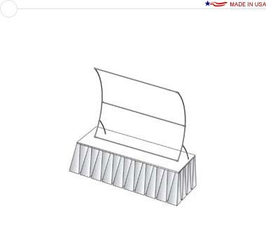 6′ × 4′ Vertical Curved Tabletop Frame