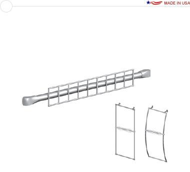 36″ Grid Wall Fixture