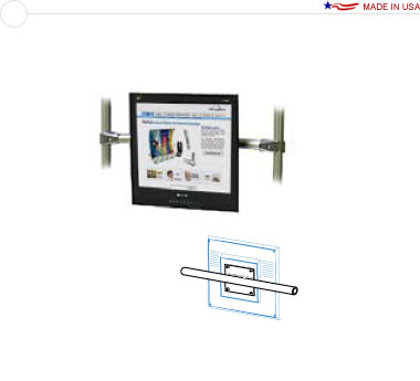 18″ Horizontal Stand Off Monitor Attachment
