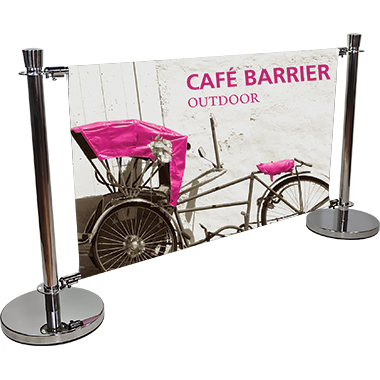 Cafe Barrier Indoor/Outdoor Banner