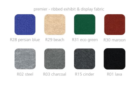Available colors for Coyote™ Fabric Displays