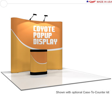 Coyote™ • 8′ Curved Pop Up Display • Graphic Mural Kit