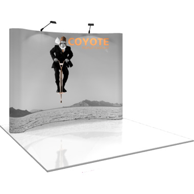 Coyote™ • 10′ Curved Pop Up Display • Graphic Mural Kit