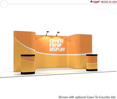 Coyote™ • Deluxe Horseshoe Pop Up Display • Graphic Mural Kit