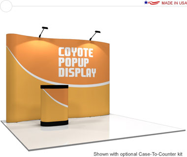 Coyote™ • 11′ Serpentine Pop Up Display • Graphic Mural Kit