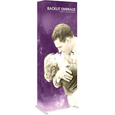 Embrace™ • 1×3 Backlit Pop Up Display
