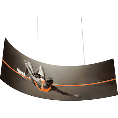 Formulate™ Hanging Banner Sign • Curve