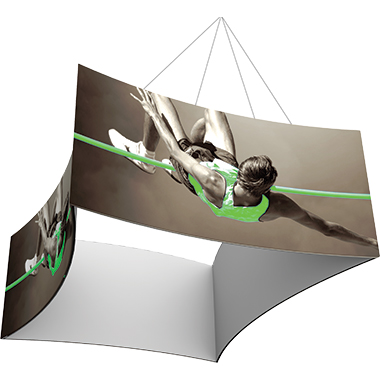 Formulate™ Hanging Banner Sign • Concave Square