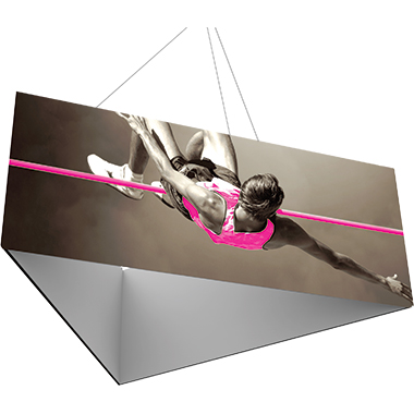Formulate™ Hanging Banner Sign • Three-Sided (Triangle)