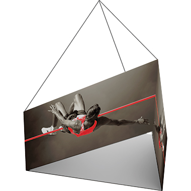 Formulate™ Hanging Banner Sign • Tapered Triangle