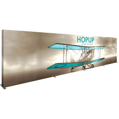 Hop Up™ 12×3 Straight Pop Up Display with Full Fitted Graphic