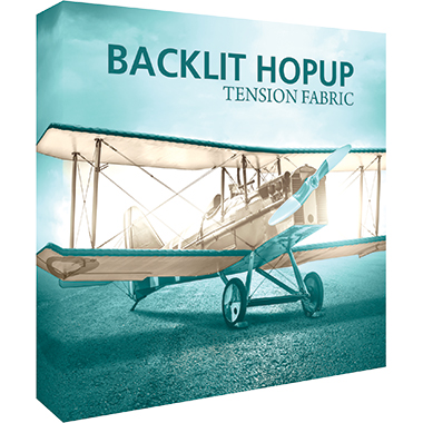 Hop Up™ 2×2 Backlit Pop Up Display