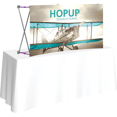 Hop Up™ 2×1 Curved Tabletop Display with Front Graphic