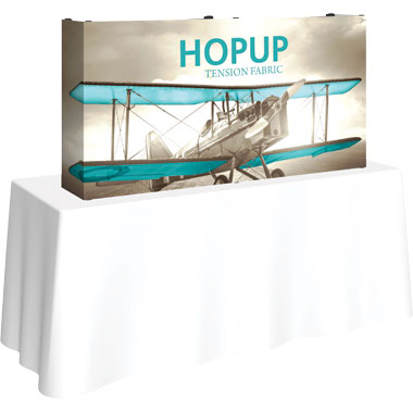 Hop Up™ 2×1 Straight Tabletop Display with Full Fitted Graphic