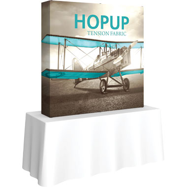 Hop Up™ 2×2 Straight Tabletop Display with Full Fitted Graphic