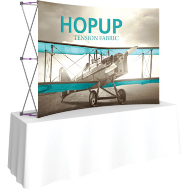 Hop Up™ 3×2 Curved Tabletop Display with Front Graphic