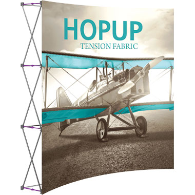 Hop Up™ 3×3 Curved Pop Up Display with Front Graphic