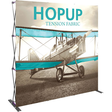 Hop Up™ · 3×3 Straight Pop Up Display
