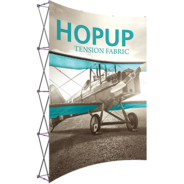 Hop Up™ 3×4 Curved Pop Up Display with Front Graphic