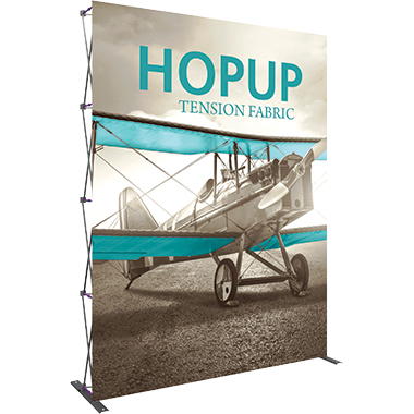 Hop Up™ 3×4 Straight Pop Up Display with Front Graphic