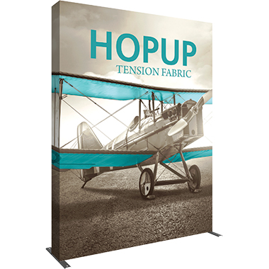 Hop Up™ 3×4 Straight Pop Up Display with Full Fitted Graphic
