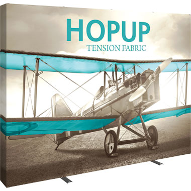 Hop Up™ 4×3 Straight Pop Up Display with Full Fitted Graphic