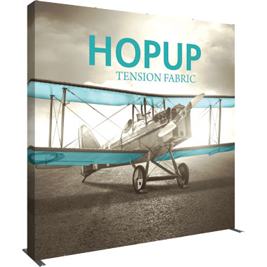 Hop Up™ 4×4 Straight Pop Up Display with Full Fitted Graphic