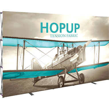Hop Up™ 5×3 Straight Pop Up Display with Front Graphic