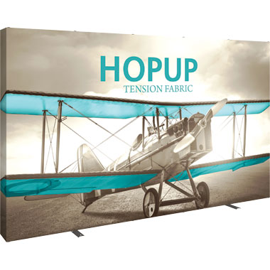 Hop Up™ 5×3 Straight Pop Up Display with Full Fitted Graphic