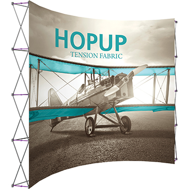 Hop Up™ 5×4 Curved Pop Up Display with Front Graphic