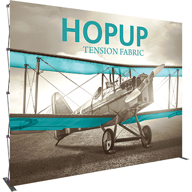 Hop Up™ 5×4 Straight Pop Up Display with Front Graphic