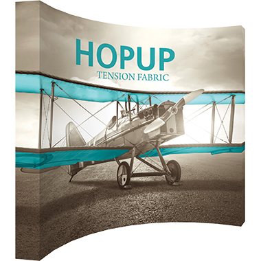 Hop Up™ 5×4 Curved Pop Up Display with Full Fitted Graphic