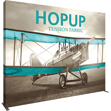 Hop Up™ 5×4 Straight Pop Up Display with Full Fitted Graphic